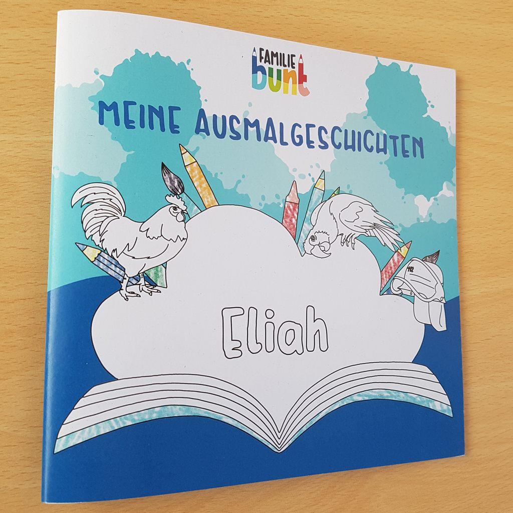 Familie Bunt Ausmalbuch