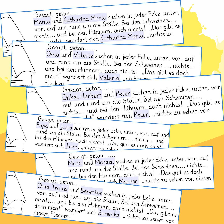 Familie Bunt - Beispiel individualisierter Text